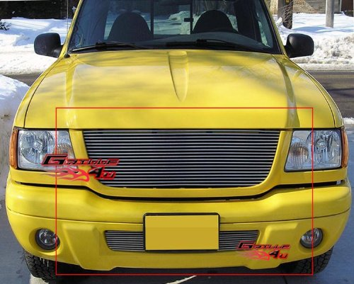 APS Fits 2001-2003 Ford Ranger XLT 4WD/Edge Billet Grille Combo #F87954A