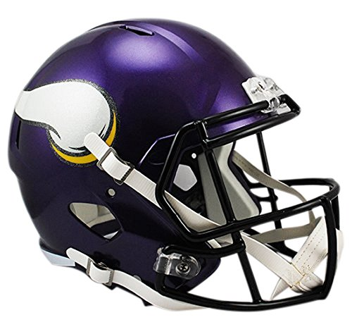 - Riddell NFL Minnesota Vikings Full Size Replica Speed Helmet, Medium, Purple
