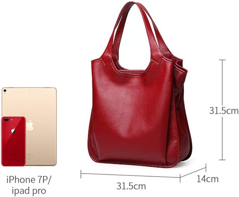 ZZAI Damentaschen Mit Großer Kapazität - Europäische Und Amerikanische Mode Damentaschen - Umhängetaschen,Blue Red