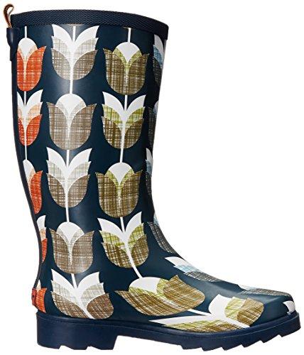Women's Rain Chooka Navy Tulip Vintage Boot 1vv4xd