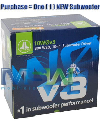 10W0V3-4 - JL Audio 10'' Single 4-Ohm W0V3 Series Subwoofer