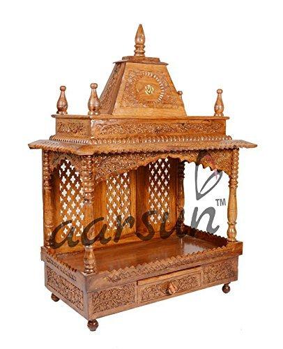 Aarsun Woods Wooden Temple Mandir In Teak Wood