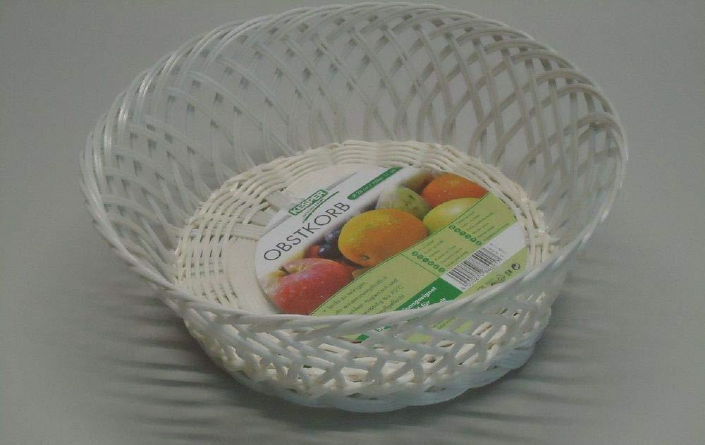 H/öhe Artikel:Nr.1 11 cm KESPER Obstkorb in 3 Farben aus Kunststoffgeflecht /Ø 28 cm