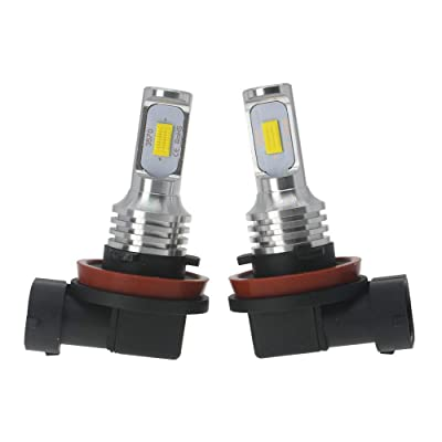 DODOFUN H8 H9 H11 H16JP LED Fog Light Bulbs Yellow Super Bright Replacement Kit 3000K Amber Color (Pack of 2): Automotive