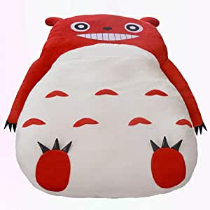Mopoq Cute Pink Totoro Single Bed Lazy Sofa Bed Kids Adult Sleeping Bag Sofa Bed Creative lazy sofa Comfortable Soft Cartoon Removable Washable (Color : Red, Size : 1.3x2m)
