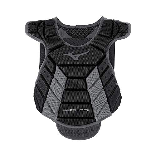 Mizuno Samurai Women's Fastpitch Softball Chest Protector 14'' Black/Grey