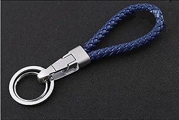 Amazon.com: JOBON Fashion estilo piel trenzado, key-chains ...