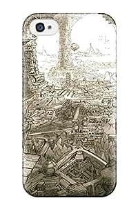 Durable Original Animal Bird Building City Landscape Mitauzo Monochrome Scenic Sky Back Case/cover For Iphone 4/4s