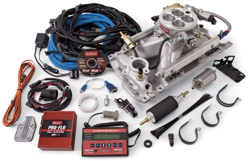 Edelbrock Polished Manifold - Edelbrock 350701 Pro-Flo 2 Electronic Fuel Injection Kit Polished Finish Incl. Manifold/Throttle Body/Fuel Rails/Fuel Inj/ECU/Calibration Module For Use With Vortec/E-Tec Cylinder Heads Pro-Flo 2 Electronic Fuel Injection Kit
