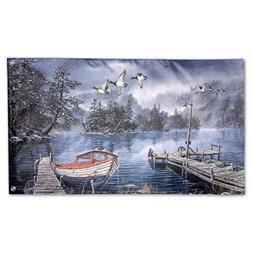 Garden Flag Watercolor Painting Lake 3x5ft Home Yard Flag Wall Banners Decoration by YS25