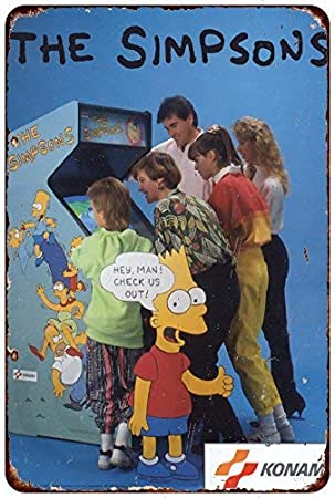 qidushop The Simpsons Arcade Game Konami - Cartel Decorativo ...