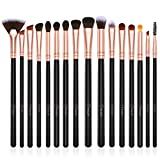 Eye Makeup Brushes Set,BESTOPE 16 Pieces Professional Cosmetics Brush, Eye Shadow, Concealer, Eyebrow, Foundation, Powder Liquid Cream Blending Brushes Set with Premium Wooden Handles (Rose Gold)
