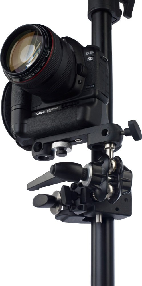 Kupo Double Ball Joint Adapter with Dual 5/8 Inches (16mm) Studs with Camera Bracket KG007212 by Kupo (Image #2)