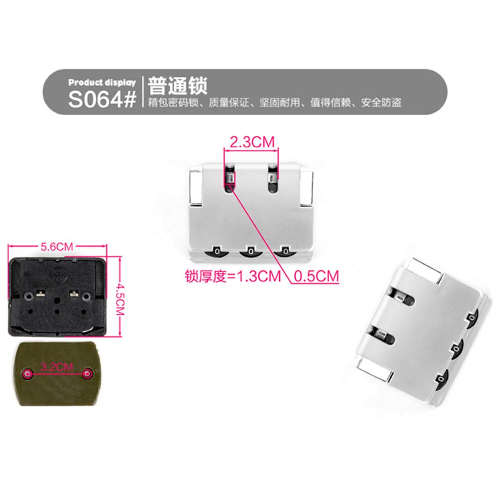 Set of A pair Travel Luggage//suitcases Password lock Replacement Accessories parts S064 YF