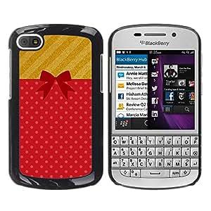 FECELL CITY // Duro Aluminio Pegatina PC Caso decorativo Funda Carcasa de Protección para BlackBerry Q10 // Gift Birthday Present Symbol Bow