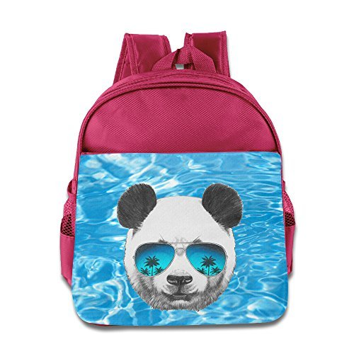 Panda With Sunglasses Children Kids Small Toddler Backpack For Boy Girl Pink Size One - Sunglasses Oneal