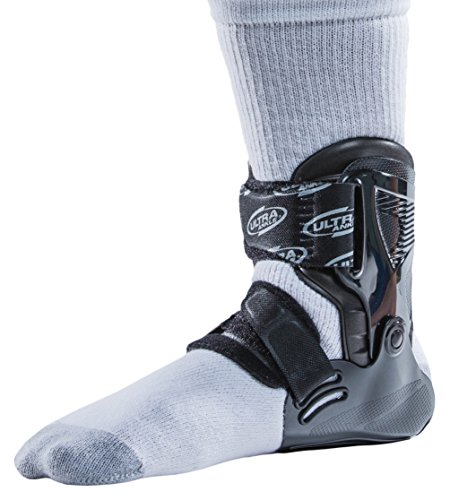 Ultra Zoom Ankle Brace for Injury Prevention, Provides Support and Helps Prevent Sprained Ankles in Volleyball, Basketball, Football – Supportive, Secure Brace for Athletes – Black, Large/X-Large