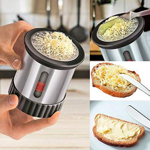 Gotian Stainless Steel Butter Mill Wire Cheese Grater Chocolate Cutter Slicer Kitchen Tools Silver -
