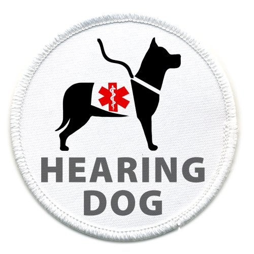 HEARING GUIDE DOG Medical Alert 2.5 inch Sew-on Patch