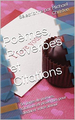 Poèmes Proverbes Et Citations 54 Pages De Poésies