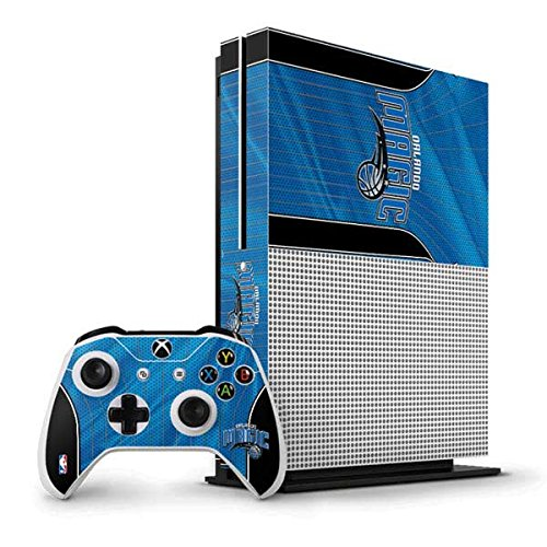 NBA Orlando Magic Xbox One S Vertical Bundle Skin - Orlando Magic Jersey Vinyl Decal Skin For Your Xbox One S Vertical Bundle by Skinit