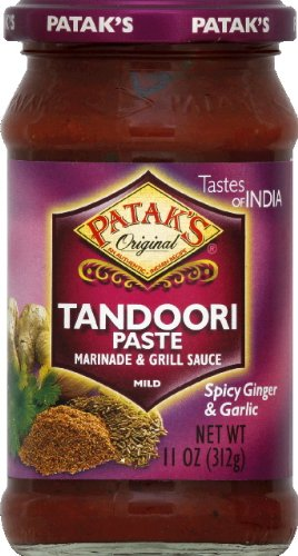 Pataks Marinade Grill Sauce Spicy Ginger and Garlic Tandoori Paste, 11 Ounce -- 6 per case.