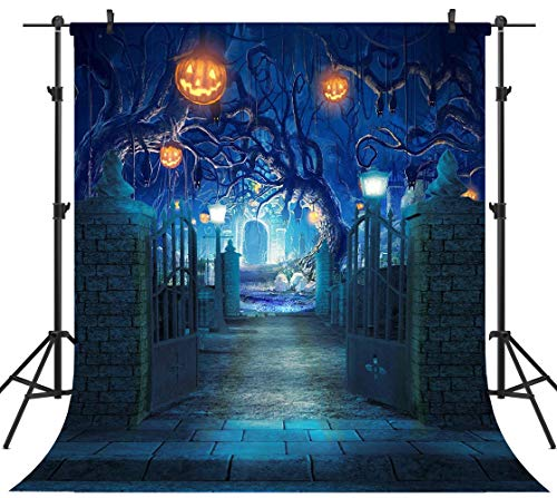 OUYIDA 8X8FT Halloween Theme Pictorial Cloth Seamless Customized Photography Backdrop Background Studio Prop TP263B]()