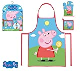 Peppa Pig Kids Set of Apron, Glove and Napkin