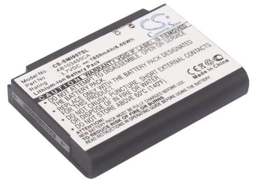 Battery Replacement for Samsung Access A827, Ace i325, Blackjack i607, Blackjack SGH-i607, Epix SGH-i907, Eternity A867 Part NO AB103450CA
