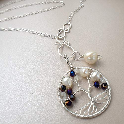 Tree-of-Life Charm Alexandrite Pearl Moonstone Set ()