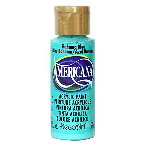 DecoArt Americana Acrylic Paint, 2-Ounce, Bahaman Blue (DA255-3)