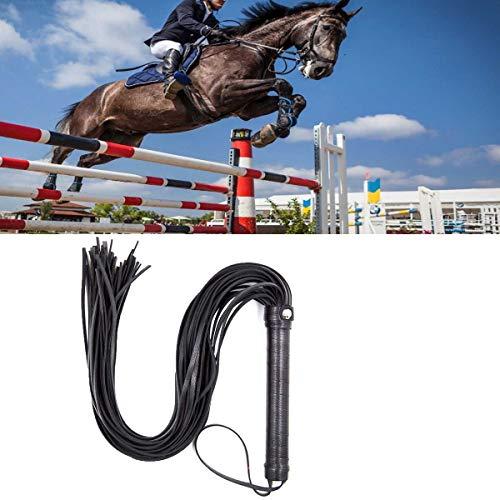GABraden Faux Leather Short Horse Riding Crop,Riding Whip,Black