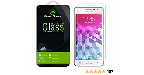 Shock Absorbent High Transparency Tempered Glass Screen Protector for Samsung Galaxy Grand Prime CUSKING Screen Protector for Galaxy Grand Prime 9H Hardness 3 Pack