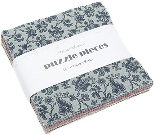 - MODA Puzzle Pieces Charm Pack Classic; 60-5 inch Precut Fabric Quilt Squares