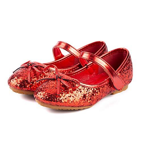 Nova Utopia Toddler Little Girls Ballet Flat Shoes,NF Utopia Girl NFGF312N2 Red 9 -