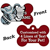 NCAA Double Sided Pet Id Dog Tag Personalized With 4 Lines of Text (Alabama)