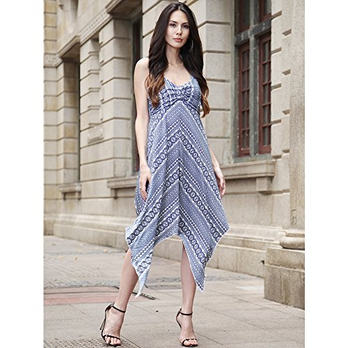 Swing Sleeveless Tunic Blue V T Loose Dress Shirt Light Basic Cocktail Plain Womens Casual Deep wqd6qIU