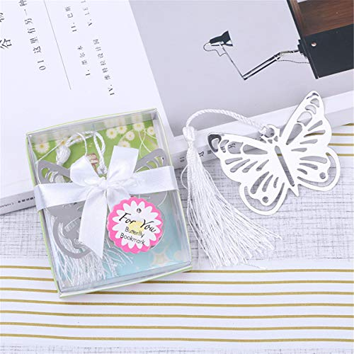 Yansanido 12pcs Butterfly Metal Bookmarks Baby Shower Souvenirs Birthday Wedding Favors and Gift for Guest (12pcs -