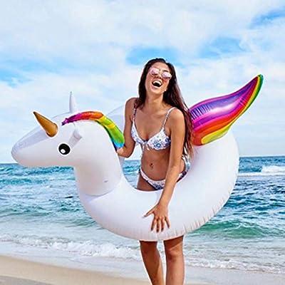 OGAWOO Flamingo Unicornio Flotadores Piña Anillo de natación Arco ...
