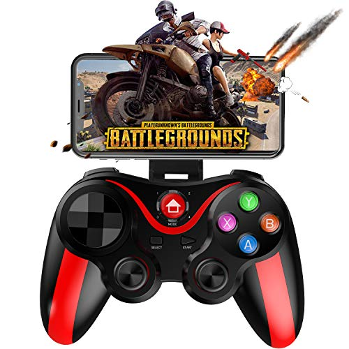 Mobile Controller for PUBG, Megadream Mobile Gamepad Wireless Game Controller Joystick for Android/iOS/iPhone/iPad, Key Mapping, Shooting Fighting Racing Game - No Simulator Needed ()