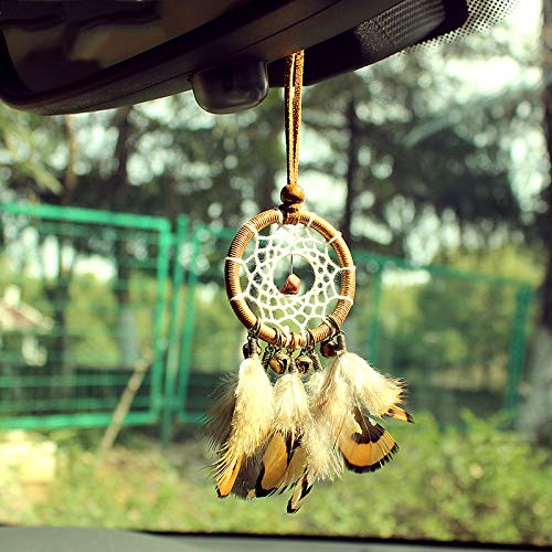 MoGist Indian Handmade Dreamcatcher Pendant Car Ornament Feather Ornament by MoGist (Image #1)