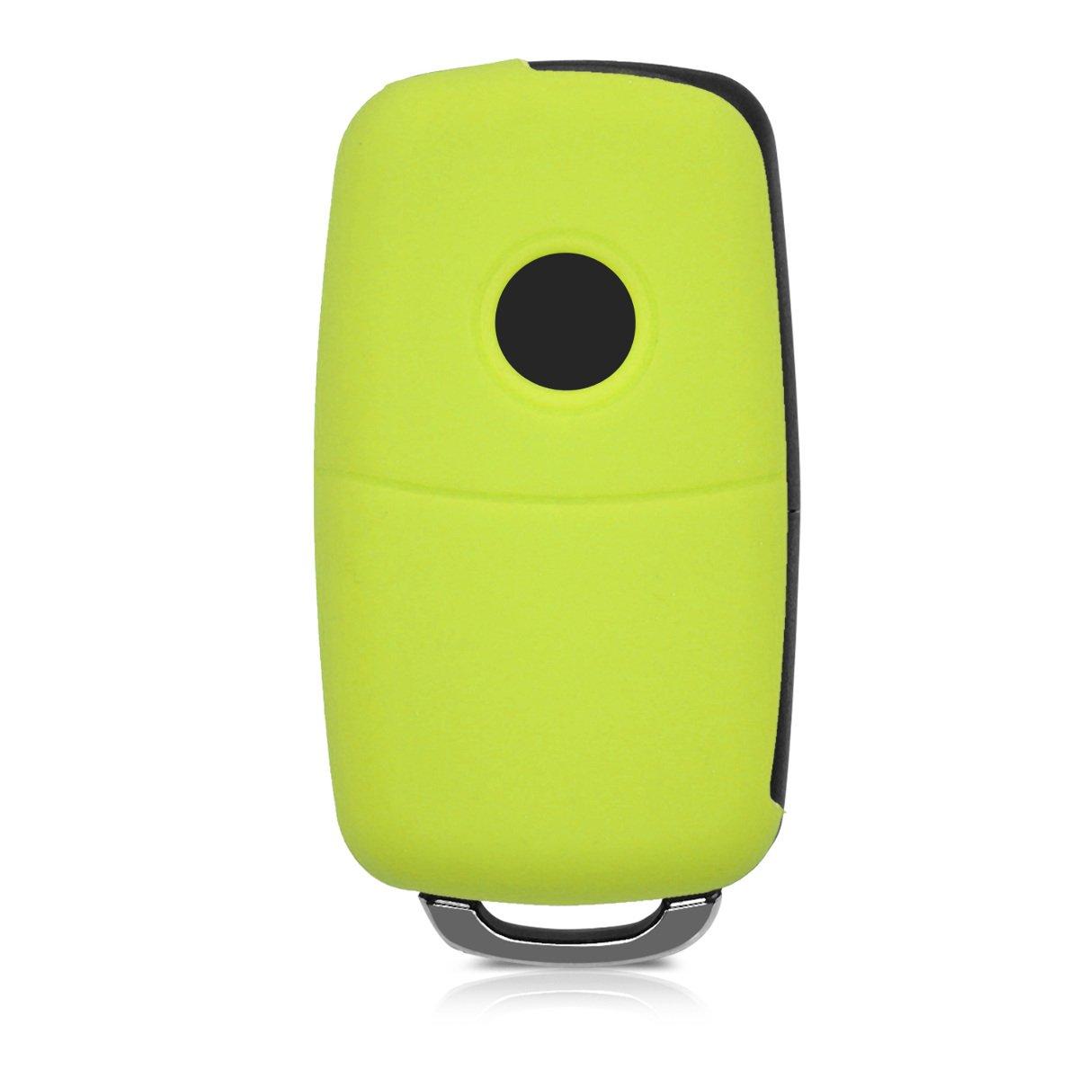 kwmobile Funda para Llave de 3 Botones para Coche VW Skoda Seat Carcasa Protectora Suave de Silicona Case de Mando de Auto con dise/ño de Bandera brit/ánica