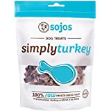 Sojos Natural Pet Food Sojos Simply Raw Freeze Dried Grain Free Dog Treats, Turkey, 4-Ounce Bag