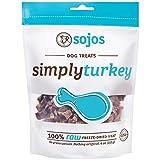 Sojos Simply Raw Freeze Dried Grain Free Dog Treats, Turkey, 4-Ounce Bag