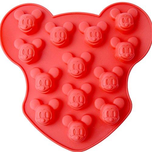 Chawoorim 16 Cavity Small Mickey Mouse Silicone Mold DIY Candy Chocolate Sugar Craft Fondant Ice Tray]()