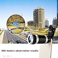 Hanbaili Mobile Phone Telescope Lens, Clip On 8x18 8X Zoom External Camera Telescope Telephoto Lens For Smart Phone