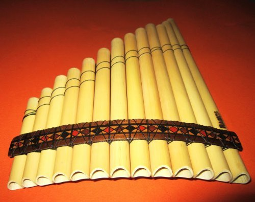 Professional Peru Treasure Standard Size Curved Antara Pan Flute 13 Pipes Case Included by Ramos