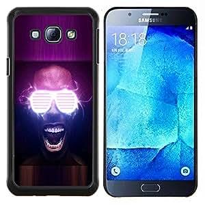 YiPhone /// Prima de resorte delgada de la cubierta del caso de Shell Armor - Gafas Neon Party Glow - Samsung Galaxy A8 A8000