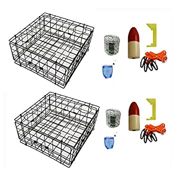 Image of Blinds KUFA 2-Pack Vinyl Coated Crab Trap with Crabbing Accessory Kit–(S70+CAM1) X2