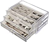 Cq acrylic Jewelry Box for Women with 3